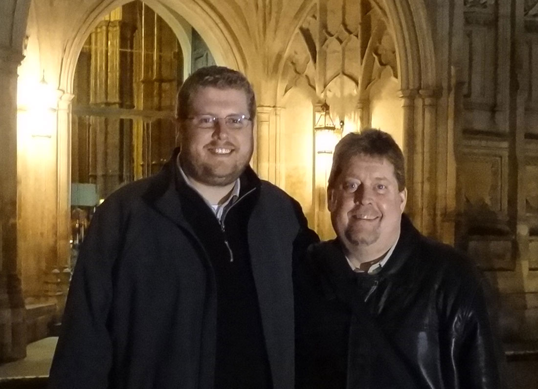 Marc & Ken at Westminster Abbey in 2015